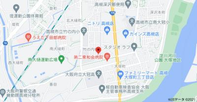 【地図】竹の内町貸家 (株)Roots