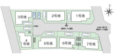 【区画図】ファーストタウン柏原市第1田辺