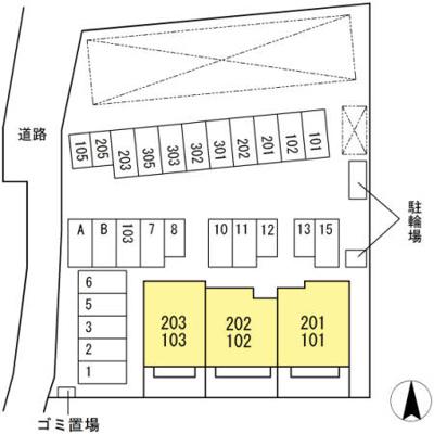 【区画図】カーサ一宮