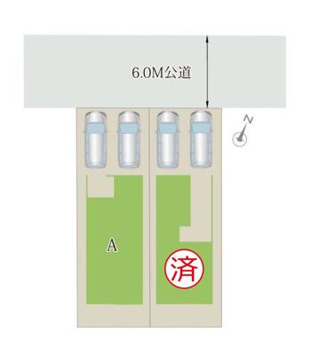 【区画図】MELDIA 森岡町4丁目