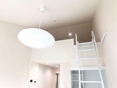 ロフトへの移動にお使い頂く梯子。