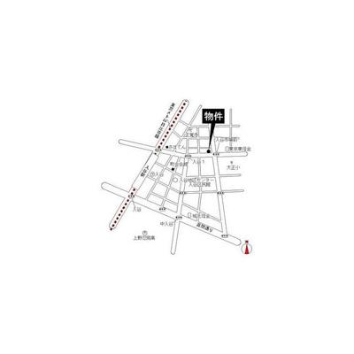 【地図】真下ビル(マシモビル)