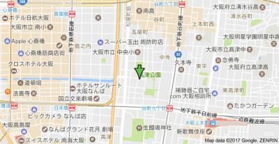 【地図】プレサンス高津公園ディオ