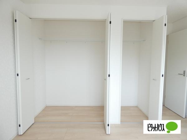 【3号棟】収納 全居室に収納スペースがついています。