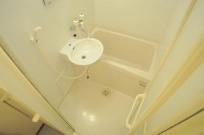 【浴室】レオパレスAQUA BLUE