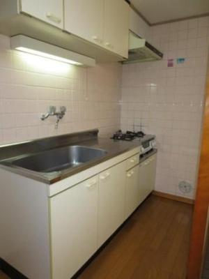 2口ガスコンロ設置可能のキッチンです。