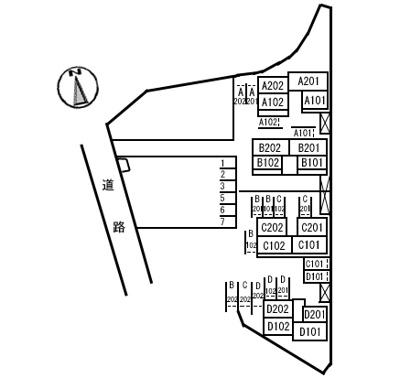 【区画図】ファミール・ビレジ D棟