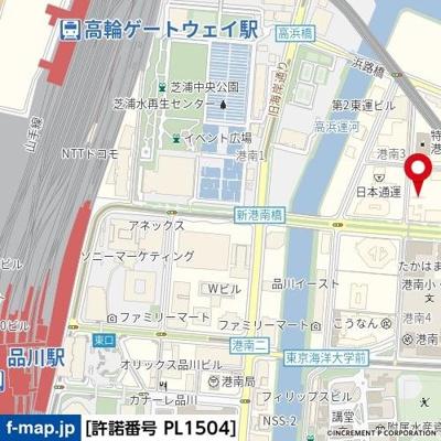 【地図】ヴィーダ・スカイコート品川