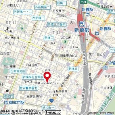 【地図】メインステージ新橋