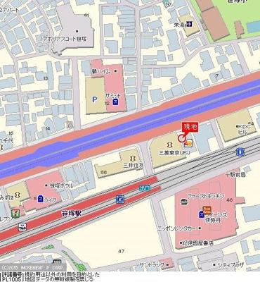 【地図】トーシンフェニックス笹塚駅前弐番館