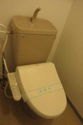 【トイレ】若林アパートメント 礼金0 駅近 独立洗面台 バストイレ別