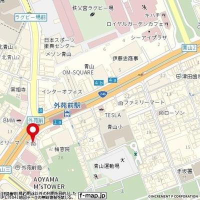 【地図】グラン青山