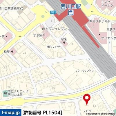 【地図】フドウ西川口ハイツ