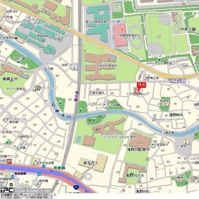 【地図】トップ西巣鴨