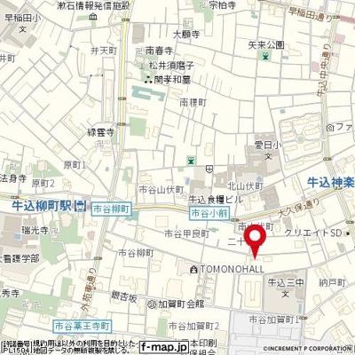 【地図】スカイコート牛込神楽坂
