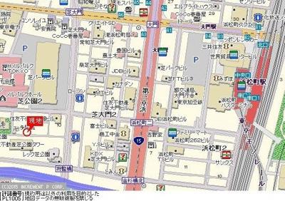 【地図】エクセリア芝大門