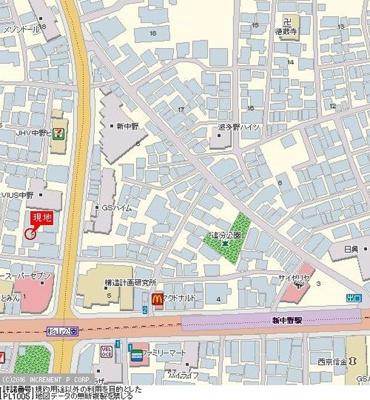 【地図】ロイヤルプラザ中野