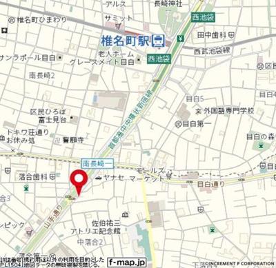 【地図】スカイコートヌーベル新宿落合