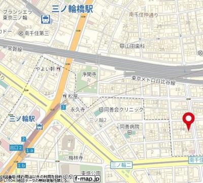 【地図】メゾン・ド・ソレイユ三ノ輪