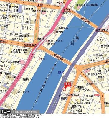 【地図】パークハイム駒形