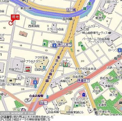 【地図】ルーブル白金高輪弐番館