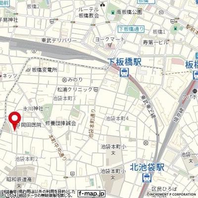 【地図】メインステージ池袋本町第二