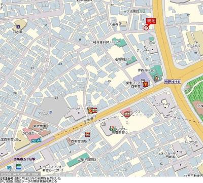 【地図】トーシンフェニックス西新宿5丁目弐番館