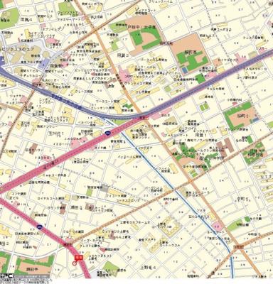 【地図】サンテミリオン世田谷上野毛