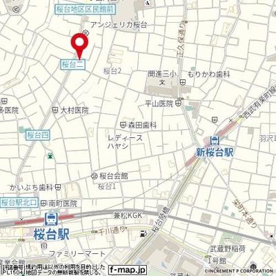 【地図】パレ・ホームズ桜台