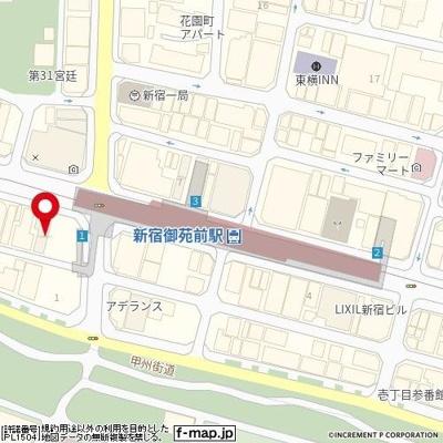 【地図】藤和新宿御苑コープⅡ