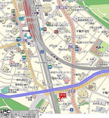 【地図】スカイコート原宿