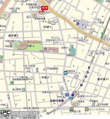 【地図】ライオンズマンション荏原中延