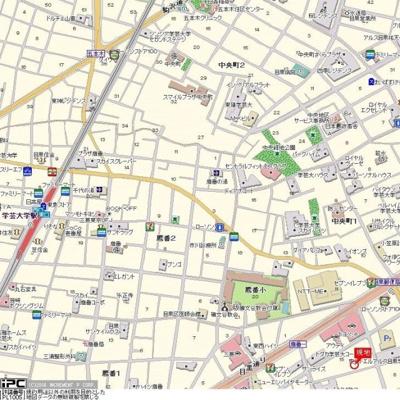 【地図】ルーブル学芸大学弐番館
