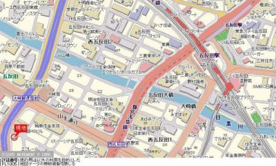 【地図】セブンスターマンション第7五反田