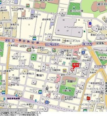 【地図】ルネ御苑プラザ