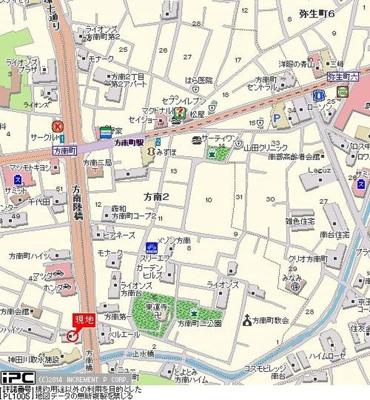 【地図】グラツィア方南町