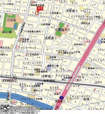 【地図】シティコープ浅草橋Ⅲ