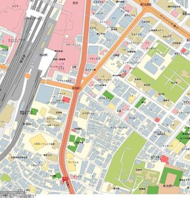 【地図】日神パレステージ南池袋