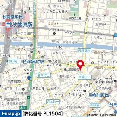 【地図】スカイコート神田第3