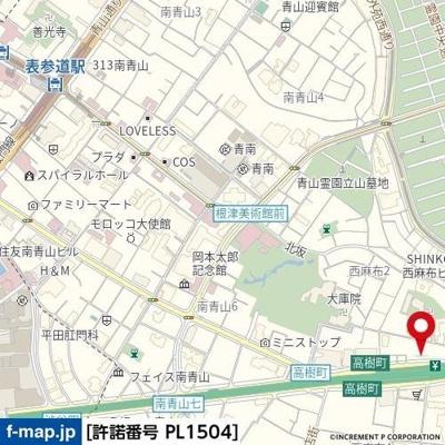 【地図】リクレイシア西麻布Ⅰ番館