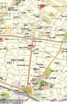 【地図】ライオンズマンションときわ台