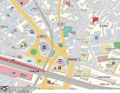【地図】プロフ大塚