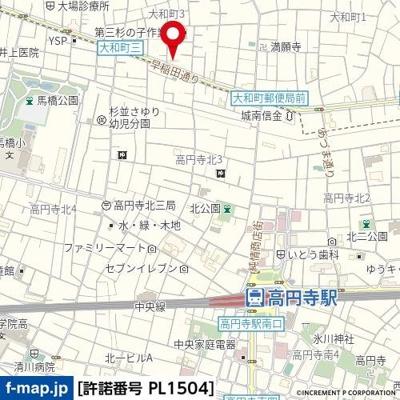【地図】ヴェローナ高円寺