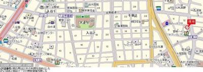 【地図】スカイコート入谷