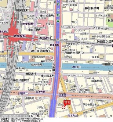 【地図】エスコート神田岩本町