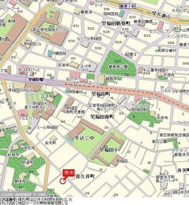 【地図】スカイコート早稲田第5