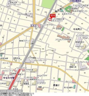 【地図】シンシア学芸大学セカンドステージ