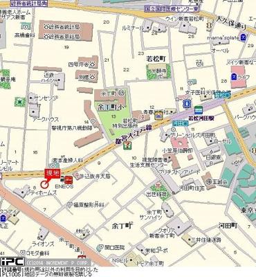 【地図】プレール新宿余丁町