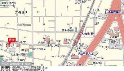 【地図】ステージファースト大森西