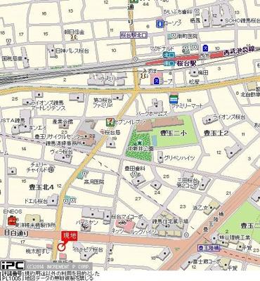 【地図】グローリア初穂桜台Ⅱ